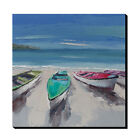 Modern abstract Hand-Painted sailing boat Oil Painting wall art home decor