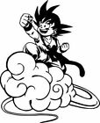 "Kid Goku Nimbus Cloud Decal Dragon Z Ball Car Wall Window Vinyl Sticker 4"" x 5"""