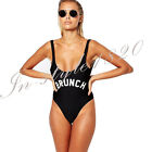 BRUNCH Funny Print One-Piece Swimsuit Sexy Backless Playsuit Romper Swimwear Hot
