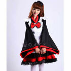 Red Japanese kimono Cosplay Dress Lolita Anime Maid Uniform Outfit Party Dress