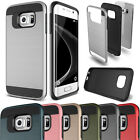 Hybrid Shockproof Dustproof Rugged Brushed Hard Case For Galaxy S3S4S5S6S7 Edge