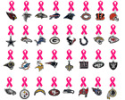 "NFL Lapel Pin ""Breast Cancer Awareness"" Hot Pink Ribbon PICK YOUR TEAM Football"