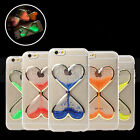 Heart Shaped Hourglass Liquid Quicksand Luminous Case For iPhone 7 7 Plus