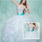New Fashion Quinceanera Dresses Beaded Prom Dress Ball Formal Wedding Dress