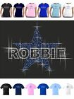 Robbie Williams T Shirt Sparkling Rhinestone Star