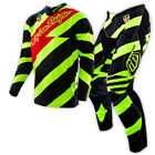 NEW TROY LEE MX 2016 SE Caution Flo Yellow Black Jersey & Pants Outfit Moto TLD