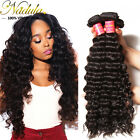 7A Indian Deep Wave Hair Weave 100% Virgin Deep Curly Wave Human Hair Extensions