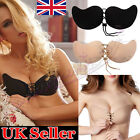 Lace Silicone Breast Self Adhesive Stick On Push Up Gel Strapless Invisible Bra