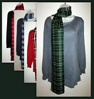 Womans Plus 4X Knit Sweater 2fer Top With Scarf New With Tags