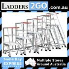 MONSTAR ORDER PICKER LADDERS 2 TO 6 STEP INCL. MOBILE WHEEL KIT (QLD)