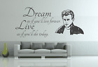 (Nr.306)  James Dean Dream WANDTATTOO WANDAUFKLEBER WOW TOP Neu Wand Tattoo