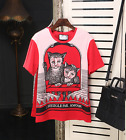 2017 occident red Cartoon printing T shirt fashion beautiful leisure lively S~XL