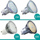 GU10 SMD LED lamps spotlight Spot Bulbs 6w 50w Equivalent  2w 5w Dimmable Option