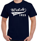 Welsh Since 1952 - Mens Funny 65th Birthday T-Shirt - Rugby Football Flag Wales