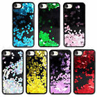 Black Bling Heart Glitter Liquid Sparkle Soft bumper Case Cover For iPhone 7 6S