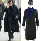 Sherlock Holmes Cape Coat Costume Cosplay Jacket Wool Christmas Gift With Scarf