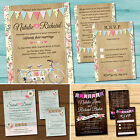 Day or Evening Wedding Invitation, RSVP Card, Honeymoon Gift Poem & Envelopes