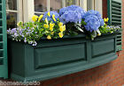 NEW MAYNE NANTUCKET GREEN WINDOW FLOWER PLANTER BOX - 4 SIZES FROM 2' TO 5'