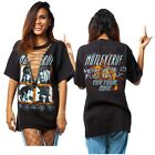 Punk Rock Sexy V Lace Up Blouse Top Tee T-shirt Women Club Party Short Dress New