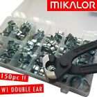 DOUBLE EAR HOSE CLIP KIT | ASSORTMENT BOX 150pc | MIKALOR | NEXT DAY DELIVERY