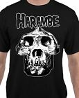 Harambe Skull Graphic Mens Womens Unisex T-Shirt - All Adult Sizes