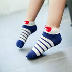 3 Pair Baby Boys Girls Short Socks Children Ankle Socks Cotton Striped Socks Red