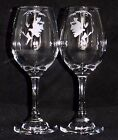 """New Etched """"Elvis Presley"""" Stylish Wine Glasses - 1 or 2 & Optional Gift Box"""