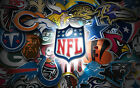 3 Pack of Officially Licensed NFL Logo Stickers - Pick Your Favorite Team!