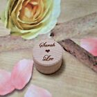 Small Wooden Wedding Ring Bearer Box Rounded Engagement Ring Personalised Name