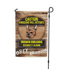 Knocking will activate FRENCH BULLDOG DOG Yard Patio House Banner Garden Flag