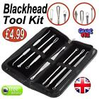 Blackhead Whitehead Pimple Spot Comedone Extractor Remover Tool Kit Set uk