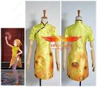 TDA Vocaloid V Family Rin Flower Printed Cheongsam Stage Dress Cosplay Costume