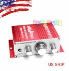 HOT Mini 2CH Hi Fi Stereo Amplifier Booster DVD MP3 Car Motorcycle Home Speaker
