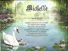 Swans Personalized Name Meaning Print