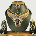 New Fashion Ethnic Style Bollywood Jewelry Cz Gold Filled Princess Necklace Set