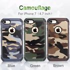For Apple Iphone 7 7 Plus Army Camo Camouflage Case Hybird Soft TPU+PC Cover