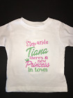 Step Aside Tiana Embroidered Bodysuit  T-Shirt Personalized Princess & the Frog