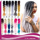 """Cheap 12Color 1pcs 24"""" Two Tone Ombre Jumbo Braids Hair Synthetic Extensions"""