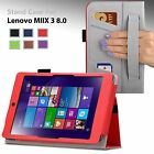 NEW PU Leather Case Cover Stand Lenovo MIIX 3 8 Windows Tablet (7.85-inch)