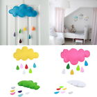 Haimi-hk Kids Tent Decoration Raining Clouds Water Drop Baby Room Hanging Toys