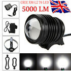 5000LM CREE XML T6 LED Head Lamp Bike Bicycle Front Light Headlight Flashlight