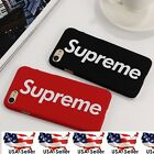 Supreme iPhone 6 6S 7 Plus Box Logo Phone Case Matte Red...
