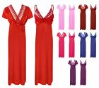 LADIES  SATIN LACE WOMENS LONG NIGHTDRESS NIGHTY CHEMISE LACE DETAILED 8-14