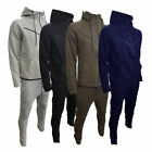 NEW Mens Contrast Piping Tracksuit Sweat Top & Slim Fit Jog Track Pants S-XL