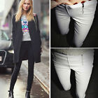Lady Zip Pencil Pants Tight High Waisted Slim Stretch Leggings Trousers Pants