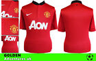 *13 / 14 - NIKE ; MANCHESTER UNITED HOME SHIRT SS / PERSONALISED = SIZE*