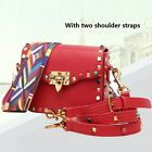 Genuine Leather Women Lady's Colorful Rivet Handbag Cross Body Bag Shoulder Bag
