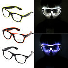Hot Luminous EL Neon LED Glasses Flashing Blink Sunglasses Bar Party DJ Props