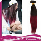 Fashion bundles omber tone black/wine red straight hair extensions weave weft