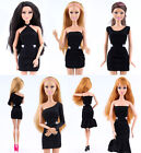 Barbie Dolls Accessories Fashion Black Business Formal Daily Party Dress Costume